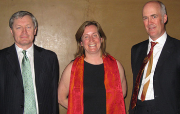 AHRC Director Philip Esler, Professor Evelyn Welch and Dr Charles Saumarez -Smith