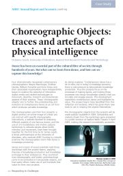 Choreographic Objects: traces and artifacts of physical intelligence